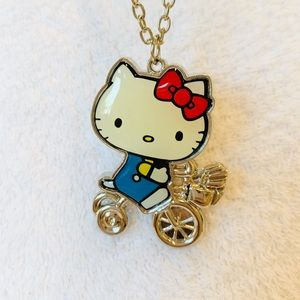 Hello Kitty Bicycle Necklace